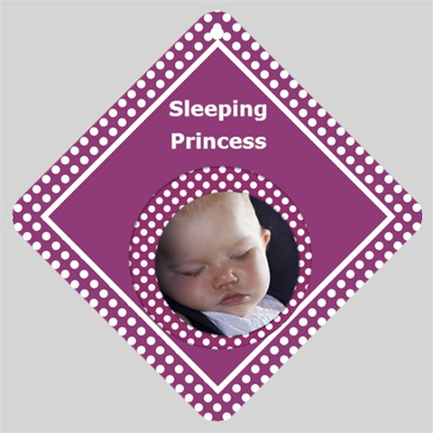Princess Car Window Sign By Deborah   Car Window Sign   Mukul1o7rz08   Www Artscow Com Front