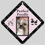 Perfect Poodle Car Window Sign