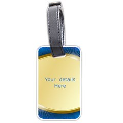 Blue And Gold Luggage Tag ( 2 Sided) By Deborah   Luggage Tag (two Sides)   Q1e9p2exgepn   Www Artscow Com Back