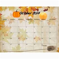 Grandkids Calendar By Raya   Wall Calendar 11  X 8 5  (12 Months)   Vznxxlqw0nvz   Www Artscow Com Oct 2014