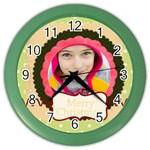 christmas - Color Wall Clock