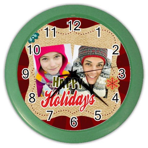 Christmas By Merry Christmas   Color Wall Clock   36twbxqx2v0v   Www Artscow Com Front