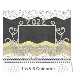 2015 Glittering New Year Calender By Shelly   Wall Calendar 11  X 8 5  (12 Months)   Qt4zig64do40   Www Artscow Com Cover