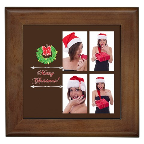 Merry Christmas By M Jan   Framed Tile   8kooryab4uo2   Www Artscow Com Front