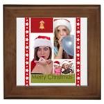 merry christmas - Framed Tile