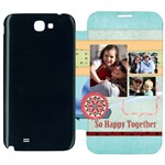 family - Samsung Galaxy Note 2 Flip Cover Case