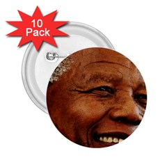 Mandela 2 25  Button (10 Pack) by MORE4MANDELA