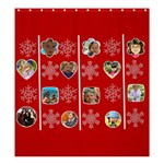 merry christmas - Shower Curtain 66  x 72  (Large)