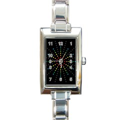 Fireworks Rectangular Italian Charm Watch by Contest1762364