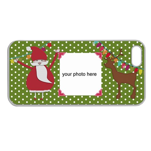 Christmas Iphone Case By Zornitza   Apple Seamless Iphone 5 Case (clear)   3bb86ziyi2zl   Www Artscow Com Front
