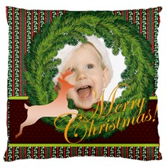 Merry Christmas By Man   Large Cushion Case (two Sides)   V29qpo238ug3   Www Artscow Com Back