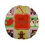 merry christmas - Standard 15  Premium Round Cushion