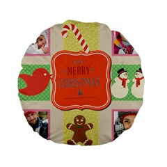 Merry Christmas By Merry Christmas   Standard 15  Premium Round Cushion    Ivag8004wiop   Www Artscow Com Back