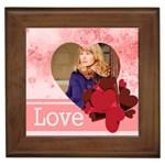 love - Framed Tile