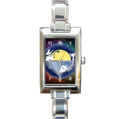 Fishing Dead Rectangular Italian Charm Watch by Contest1763580