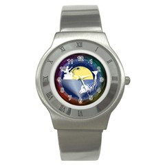 Fishing Dead Stainless Steel Watch (Slim) by Contest1763580
