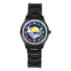 Fishing Dead Sport Metal Watch (black) by Contest1763580