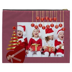 Merry Christmas By Xmas   Cosmetic Bag (xxxl)   F20og5slevhc   Www Artscow Com Back