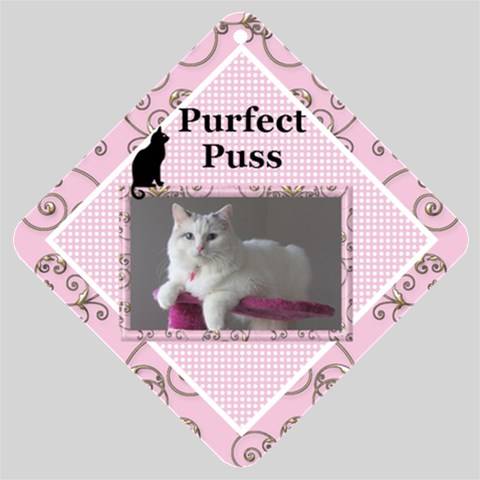 Perfect Cat Car Window Sign By Deborah   Car Window Sign   3488t2xjy7ok   Www Artscow Com Front