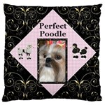 Perfect Poodle Large Cushion Case (2 sided) - Large Cushion Case (Two Sides)