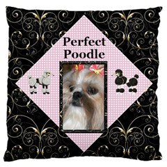 Perfect Poodle Large Cushion Case (2 Sided) By Deborah   Large Cushion Case (two Sides)   Jst9zxeg4d3t   Www Artscow Com Back