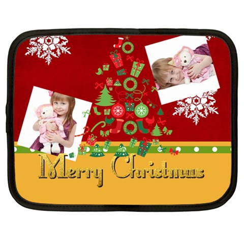 Merry Christmas By Jo Jo   Netbook Case (xl)   Ibouhdypg7tq   Www Artscow Com Front