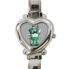 Don t Waste Your Time    Heart Italian Charm Watch  by Contest1771648
