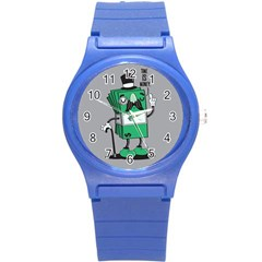 Don t waste your time... Plastic Sport Watch (Small) by Contest1771648