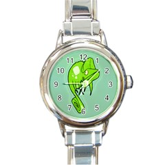 Lucky Lizard Round Italian Charm Watch by Contest1780262