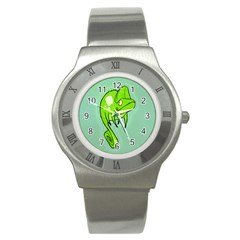 Lucky Lizard Stainless Steel Watch (Slim) by Contest1780262