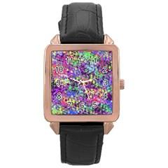 Fantasy Rose Gold Leather Watch  by Siebenhuehner