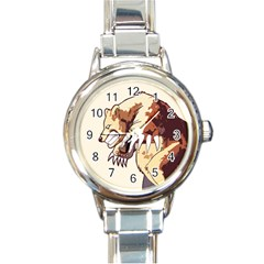 Bear Time Round Italian Charm Watch by Contest1780262