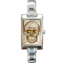 Warm Skull Rectangular Italian Charm Watch by Contest1775858