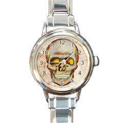 Warm Skull Round Italian Charm Watch by Contest1775858