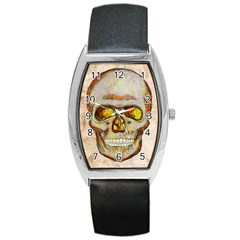 Warm Skull Tonneau Leather Watch by Contest1775858
