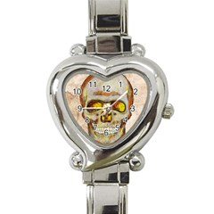 Warm Skull Heart Italian Charm Watch  by Contest1775858