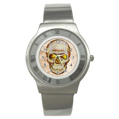 Warm Skull Stainless Steel Watch (slim) by Contest1775858