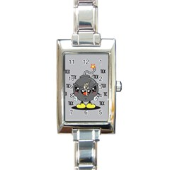 Time Bomb Rectangular Italian Charm Watch by Contest1771648