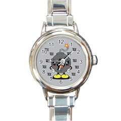 Time Bomb Round Italian Charm Watch by Contest1771648
