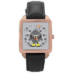 Time Bomb Rose Gold Leather Watch