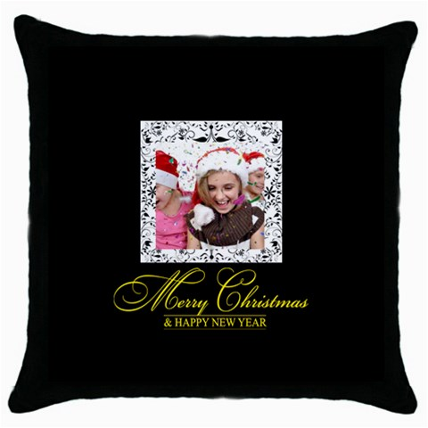 Merry Christmas By M Jan   Throw Pillow Case (black)   Slbsz5hb1wgi   Www Artscow Com Front