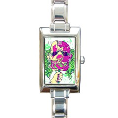 Bozo Zombie Rectangular Italian Charm Watch by Contest1731890