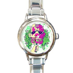 Bozo Zombie Round Italian Charm Watch by Contest1731890