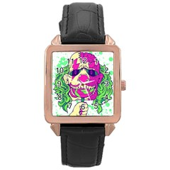 Bozo Zombie Rose Gold Leather Watch  by Contest1731890