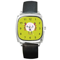 Moshi Watch Square Leather Watch by Contest1771913