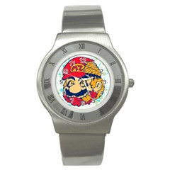 Mario Zombie Stainless Steel Watch (slim) by Contest1731890