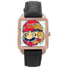 Mario Zombie Rose Gold Leather Watch  by Contest1731890