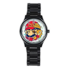 Mario Zombie Sport Metal Watch (black) by Contest1731890