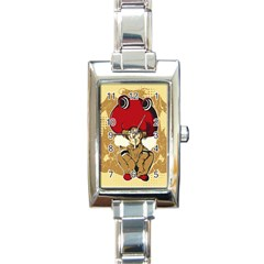Flan Rectangular Italian Charm Watch by DesignsbyReg2