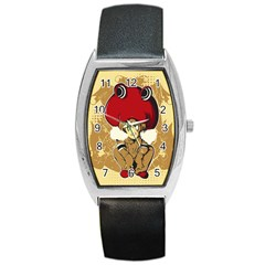 Flan Tonneau Leather Watch by DesignsbyReg2